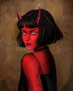 Mazekeen , my first DnD character. She's a Tiefling Sorlock ♥ : ReasonableFantasy
