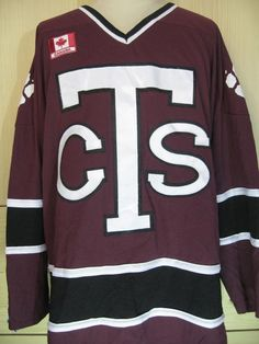 15f236a4b Vintage 90s Ak Cts Trinity Bears Canada ice hockey nhl jersey shirt long  sleeved size mens XL made i