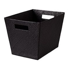 """ikea media center basket tote -- Bladis Product dimensions  Width: 10 ¾ """"  Depth: 13 ¾ """"  Height: 9 ¾ """""""