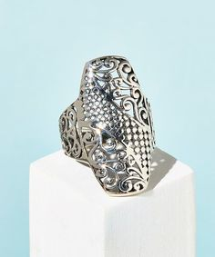 Vera & Co., Inc. Sterling Silver Dot Filigree Statement Ring | zulily