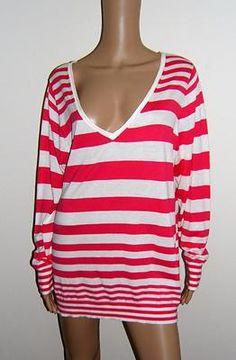 NWOT Womens Lane Bryant 18/20 L/S Striped Blouse Shirt Top