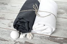 Bath thick Linen towel  Softened linen towel  от pureWHITEspa