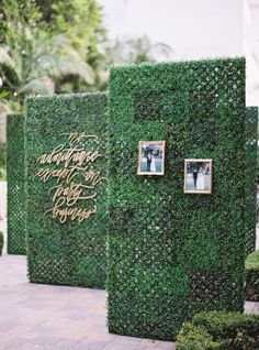 Wedding Decor Obsession Alert: Boxwood-Hedge Walls