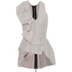Maticevski Metamorphosis Sleeveless Top ($740) ❤ liked on Polyvore featuring tops, grey, grey sleeveless top, no sleeve tops, gray tank, gray sleeveless top and sleeveless tank