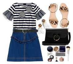 """""""Denim love"""" by lidia-solymosi ❤ liked on Polyvore featuring J.Crew, J.W. Anderson, Ray-Ban and M&Co"""