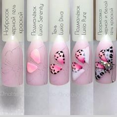 3d Nail Art, Stiletto Nail Art, Nail Polish Art, 3d Nails, Easy Nail Art, Love Nails, Bling Nails, Acrylic Nails, Pastel Nails