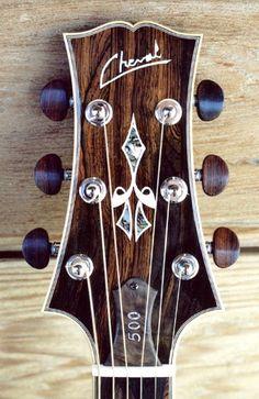Cheval Guitars 500th Model headstock