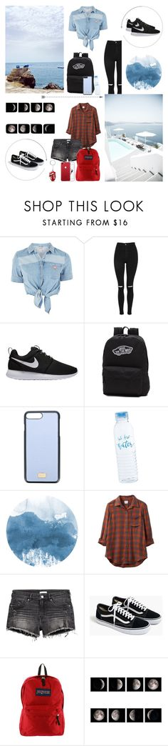 """#22"" by marglova on Polyvore featuring мода, GUESS, Topshop, NIKE, Vans, Dolce&Gabbana, RVCA, H&M, J.Crew и JanSport"