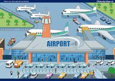 Interactieve praatplaat thema vliegveld voor kleuters, juf Petra, kleuteridee
