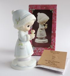 Vintage Precious Moments May Your Christmas Be by TheLogChateau