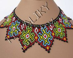 Modern Ukrainian Handmade Beads Beaded necklace by koraliky