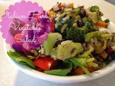 Italian Herb Vegetable Salad- hands down my favorite salad