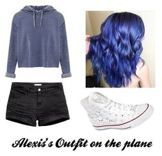 """Alexis Plane outfit"" by blackandrainbows on Polyvore featuring Miss Selfridge, H&M and Converse"