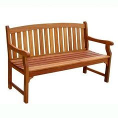 Attractive Home Depot: Vifah Eucalyptus Patio Bench, Model # V275, Internet #  202360505,