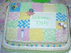 Congratulations, it's a baby shower cake! Baby Shower Sheet Cakes, Baby Shower Cake Designs, Baby Shower Cakes Neutral, Baby Shower Cake Decorations, Simple Baby Shower, Baby Shower Themes, Shower Ideas, Tea Party Baby Shower, Baby Boy Shower