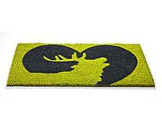 Felpudo Ciervo en corazón, verde y gris – 44x74 Bat Signal, Superhero Logos, Home Decor, Art, Green And Gray, Deer, Flooring, Art Background, Decoration Home
