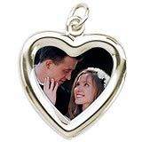 PhotoArt Silver or Gold Charm. We will recreate your favorite wedding photo onto a beautiful charm to wear.   http://www.charmnjewelry.com/category/sterling_silver/Anniversary_Charms.htm #AnniversaryCharm