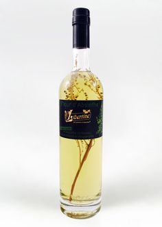 Absinthe Fleur d'Absinthe PD - The wormwood sprig inside the bottle makes it unique and original.