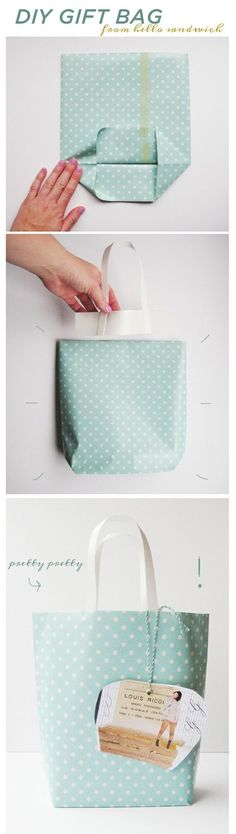 Make your own gift bags fabric or paper