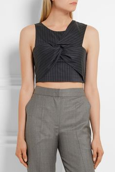 3.1 PHILLIP LIM Cropped twist-front pinstriped poplin top  A$475.00 https://www.net-a-porter.com/products/678825