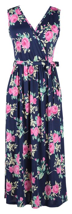 When you have to get going in a hurry but need to look classy and put together, this is the dress you will reach for! The floral printing is obviously what catches you attention. However, it's the fabulous belt and plunging neckline that make this dress a dream to wear!