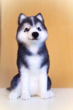 Realistic Needle felted husky-MADE TO ORDER Pet by ViKoToys