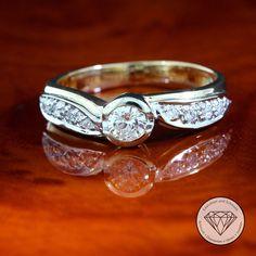 Brillantring Ring Mit Brillanten 1 Ct In Aus 585 Gold Diamond Finger