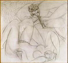 Henri Matisse (1869-1954), The charming fauna sleeping nymph, 1935.   Musée National d'Art Moderne - Centre Georges Pompidou.