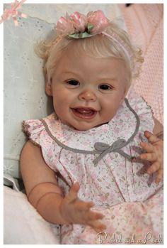 Reborn baby Harper, on Ebay From limited edition Andrea Arcello sculpt.