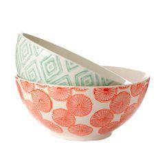 General Eclectic bowls - large at Wanda Harland Birthday Wishlist, Cereal Bowls, At Home Store, Secret Santa, Ceramic Bowls, Fine Dining, Pastel Colors, Vintage Kitchen, Frames