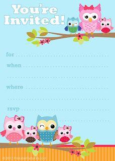 Cute Owl Invitations