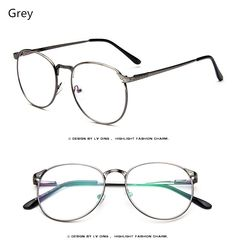 30060867e7 Brand High Quality Women Spectacle Frame Vintage Optics Eyeglasses Frame Men  Round Retro Clear Glasses Prescription Eyewear