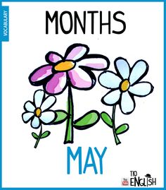 Months in English. Learn Spanish Online, Learning English Online, Learning Spanish, English Vocabulary Words, English Words, English Lessons, Name Of Months, Months In A Year, English Study