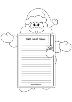 1000 images about lettere a babbo natale on pinterest - Babbo natale da colorare fogli da colorare ...