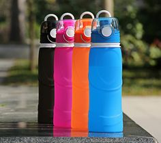 Silicone Sports Water Bottles