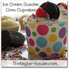 ice cream oreo cupcake sundae - this will happen