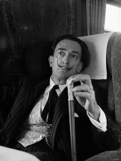 """""""No masterpiece was ever created by a lazy artist"""" == Love This Salvador Dali…"""