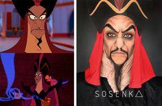 Jafar's makeup (Aladdin) by me (facebook.com/sosenka.official)
