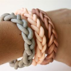 Make your own braided bracelets with polymer clay!