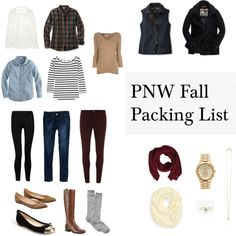 Fall Road Trip Packing List by devananne1 on Polyvore featuring J.Crew, Burberry, American Eagle Outfitters, Dorothy Perkins, Influence, LOFT, VC Signature, Michael Kors, Ganni and Forever New