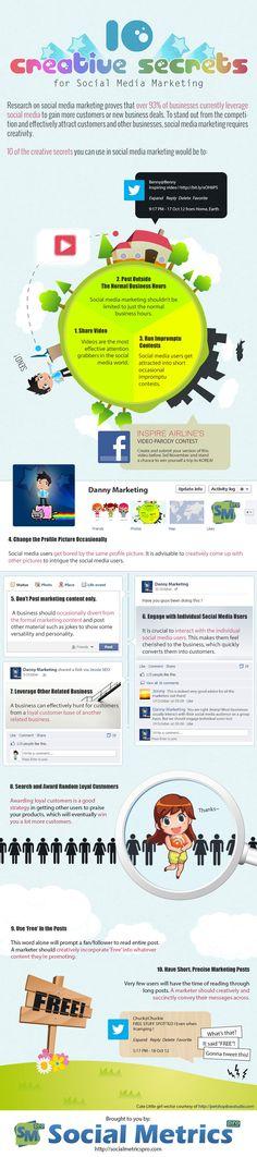 SOCIAL MEDIA -         10 Creative Secrets For Effective Social Media Marketing.