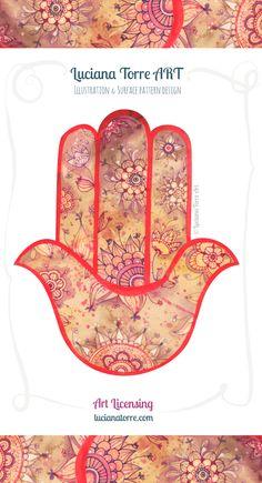 Mano de Fatima – Luciana Guadalupe Torre Paisley Doodle, Paisley Art, Tree Of Life Artwork, Tree Of Life Painting, Geometry Art, Sacred Geometry, Watercolor Artwork, Printable Designs, Sacred Art