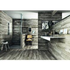 Sandalo Grey Natural Wood Effect Floor Tile