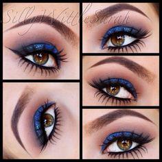 @SillyWittleSarah wearing Elegant Lashes #033 Black Premium 100% Natural Human Hair False Under/Lower/Bottom Eyelashes