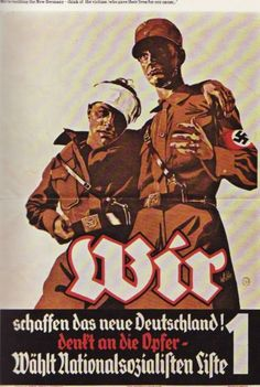 """georg sluyterman von langeweyde art - Google Search Another election poster image - """" WE are building the New Germany - think of the victims who gave their lives for our cause."""""""