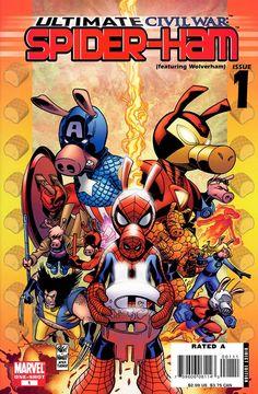 Ultimate Civil War - Spider-Ham #1 – GetComics