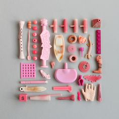 Object Photography, Flat Lay Photography, Rosa Pink, Collections Photography, Collections Of Objects, Gris Rose, Candy Colors, Pink Aesthetic, Rainbow Colors