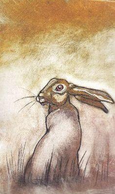 #rabbit #illustration by Sue Platt | repinned by www.amgdesign.nz