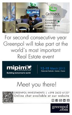 Once again, Greenpol will be participating at the world´s best Real Estate event