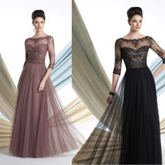 Mother Of The Groom Dresses Brown Black Lace Bride